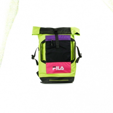 ZAINO BP FROSTED ROLLTOP BLACK/ACID LIME/TILLANDSIA PURPLE/PINK YARROW
