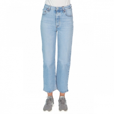 Jeans Levs Donna Ribcage Straight Ankle Tango Light 0023 ANKLE TANGO
