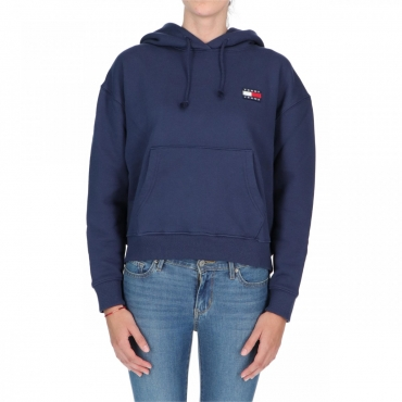 Felpa Tommy Hilfiger Donna Badge Hoodie 002 BLACK IRIS