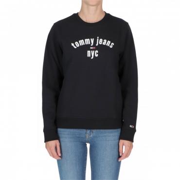 Felpa Tommy Hilfiger Essential Logo Tjw BBU TOMMY BLACK
