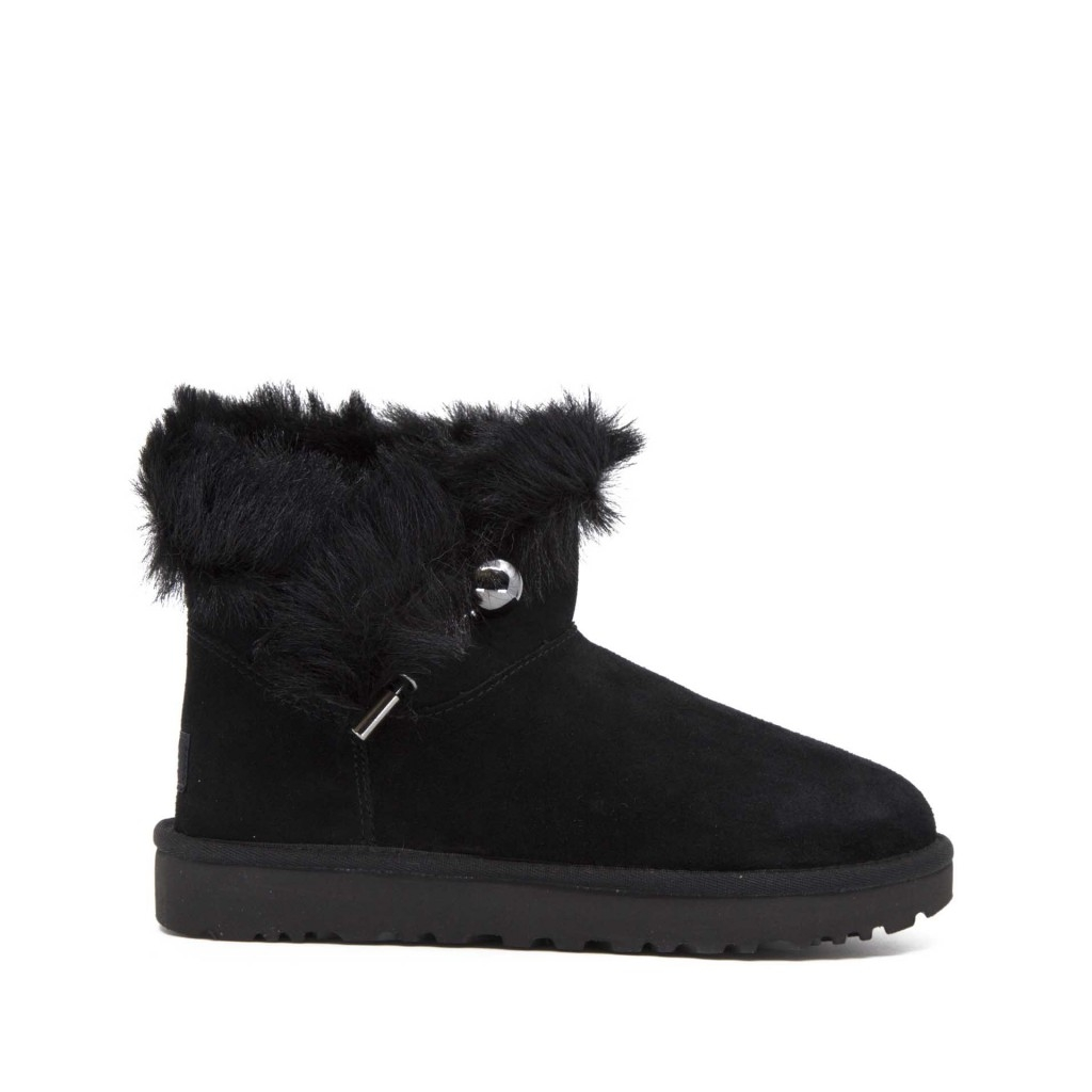 Ugg Women's Fluff Punk Zipper Boots New In Box