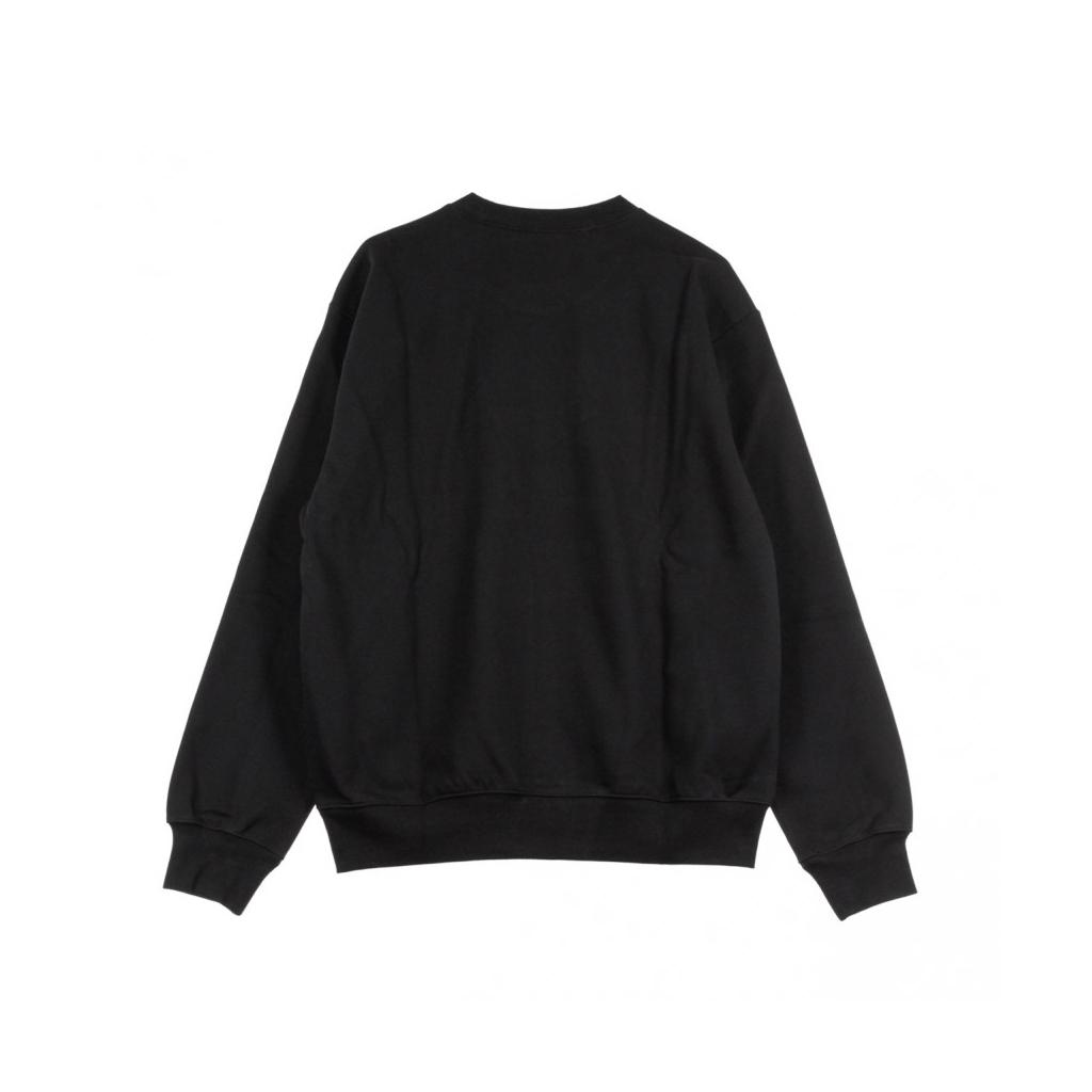 FELPA GIROCOLLO SWEAT BLACK/WHITE
