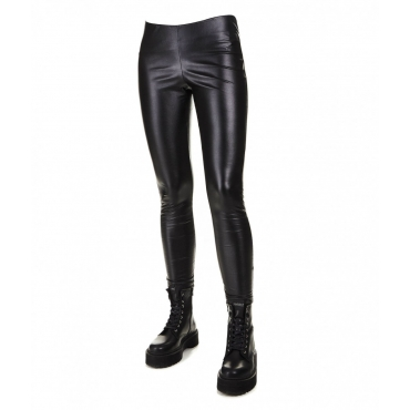 Leggings in ecopelle Beniarda nero
