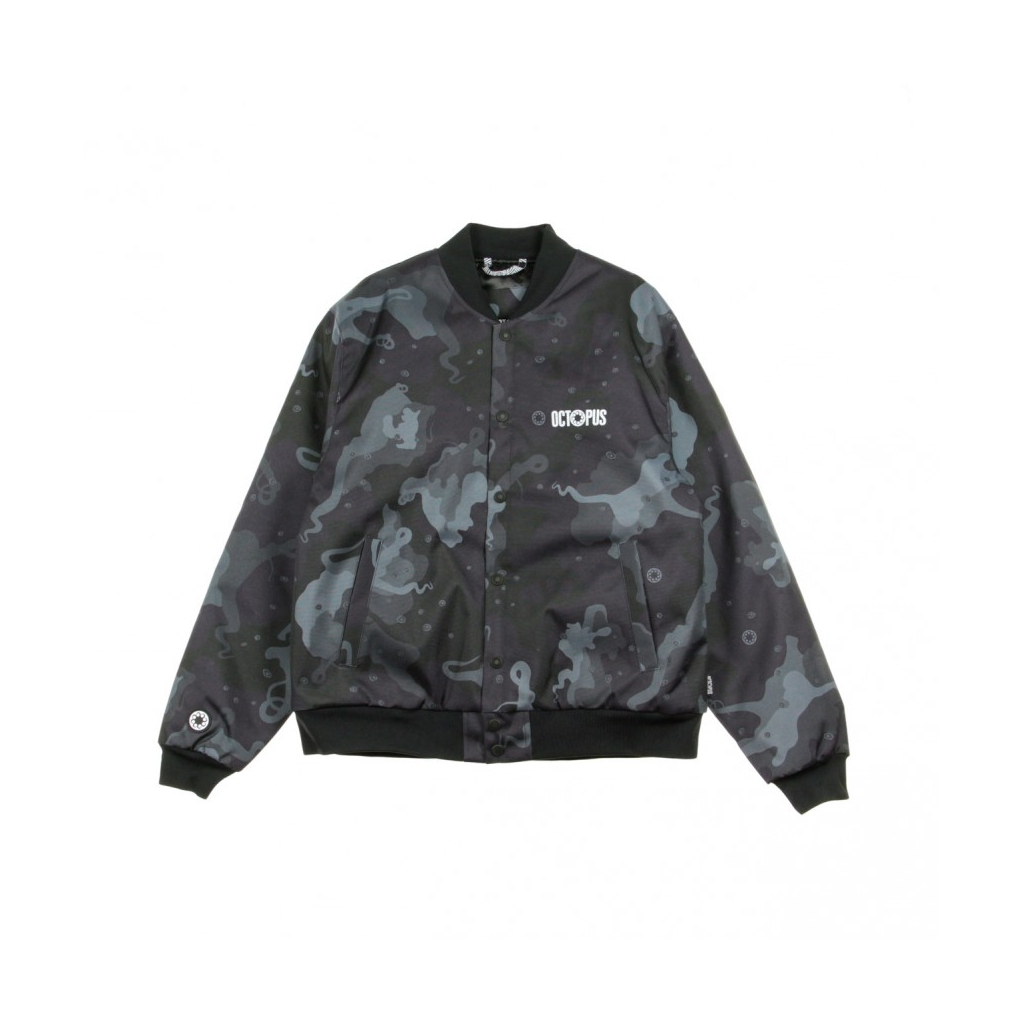 GIUBBOTTO CAMO VARSITY JACKET BLACK