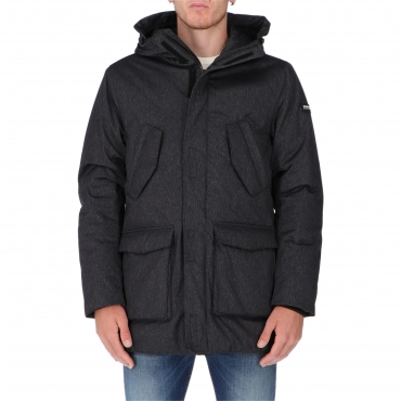 GIACCA TECH PENN PARKA DARK GREY MELANGE