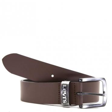 Cintura in cuoio con fibbia 028BROWN