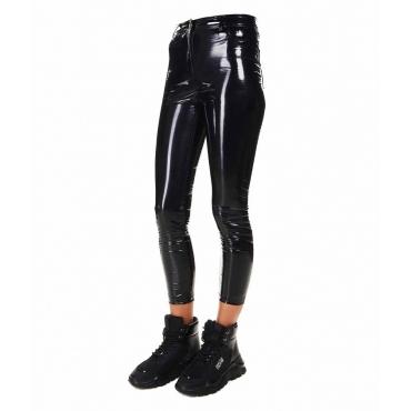 Legging in vinile nero