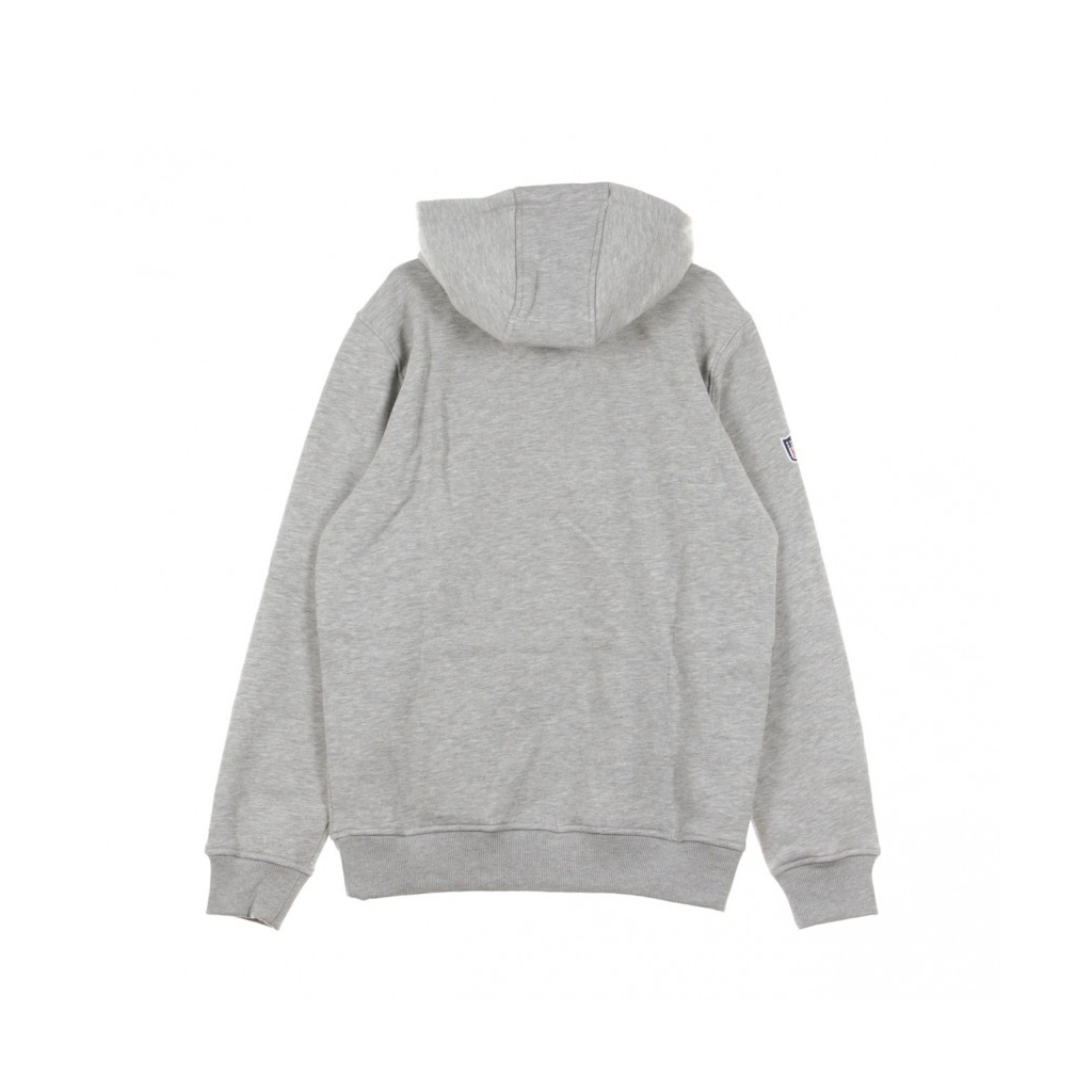 FELPA CAPPUCCIO TEAM LOGO PO HOOD NEYJET HEATHER GREY/ORIGINAL TEAM COLORS