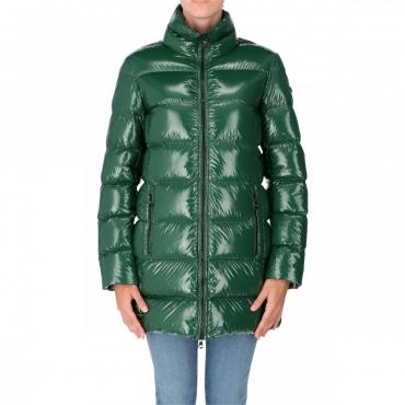 Giacca Refrigiwear Donna Long Ellis Piuma Laccato VERDE