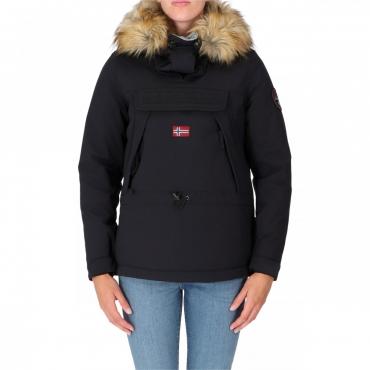 Skidoo Napapijri Donna Cordura Fake Fur Icon Cappucci 041 BLACK
