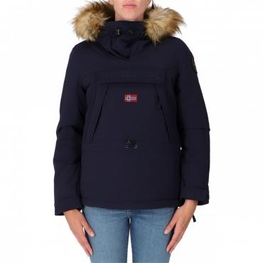 Skidoo Napapijri Donna Cordura Fake Fur Icon Cappucci 176 BLU MARINE