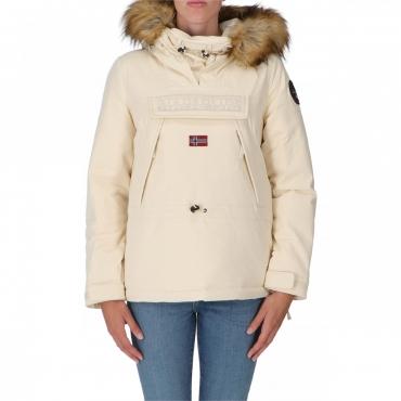 Skidoo Napapijri Donna Cordura Fake Fur Icon Cappucci NS5 WHITE CAP