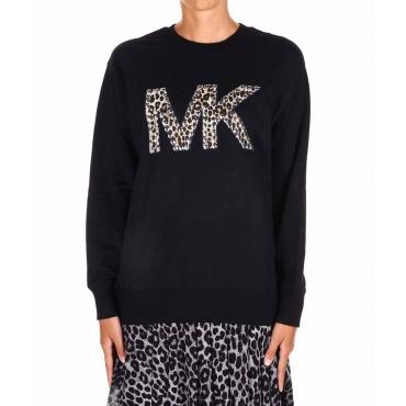 Sweatshirt mit Logodetail Schwarz