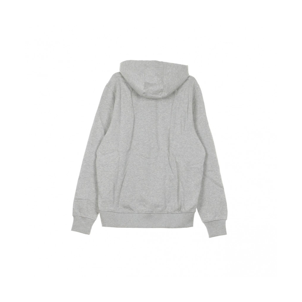 FELPA CAPPUCCIO TEAM LOGO PO HOOD INDCOL HEATHER GREY/ORIGINAL TEAM COLORS