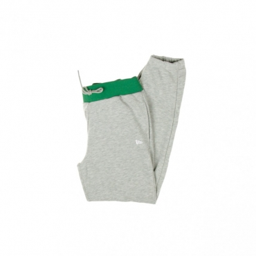 PANTALONE TUTA FELPATO NBA GRAPHIC OVELAP JOGGER BOSCEL LIGHT GREY HEATHER/ORGINAL TEAM COLORS