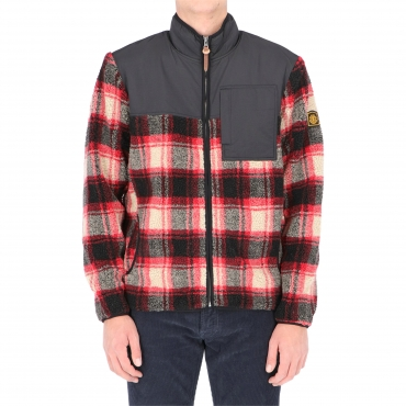 POLAR ABENAKI ZIP TARTAN BLACK RED