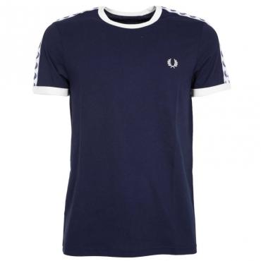 T-shirt con nastro loggato 885CARBONBLU