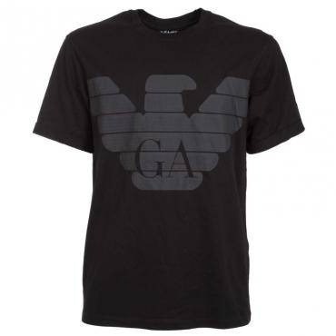 T-shirt R-EA-MIX con maxi-logo aquila NERO