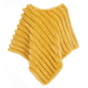 Poncho in pelliccia sintetica misto cashmere 0Y