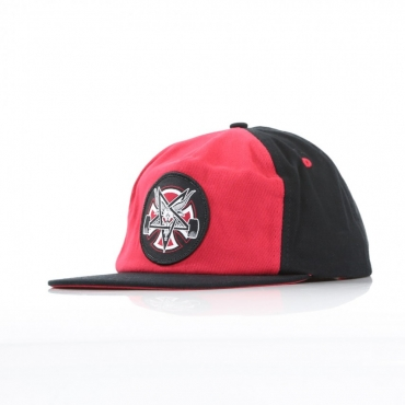 CAPPELLO SNAPBACK THRASHER PENTAGRAM CROSS CARDINAL RED/BLACK