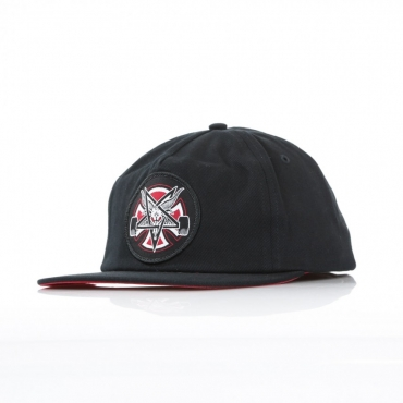 CAPPELLO SNAPBACK THRASHER PENTAGRAM CROSS BLACK/BLACK