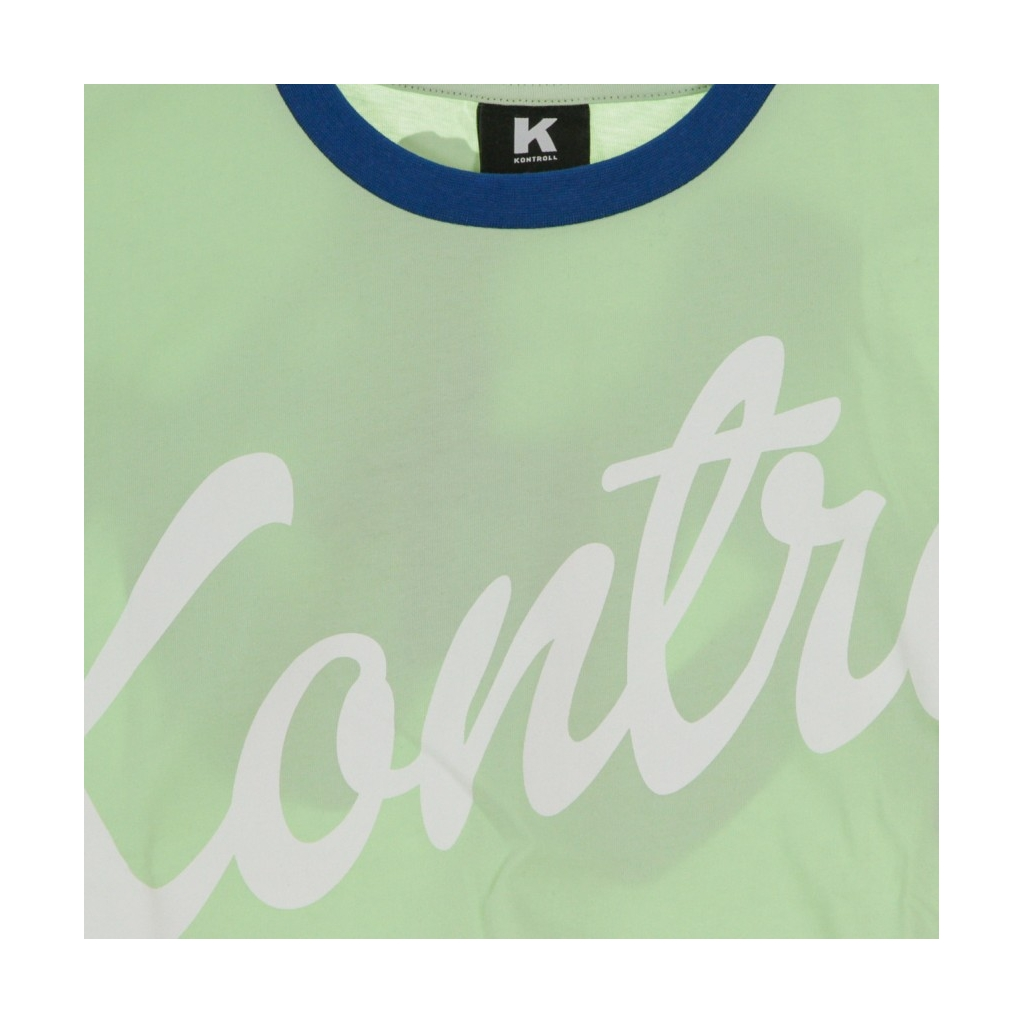 MAGLIETTA CORTA CROP T-SHIRT GREEN/LIGHT BLUE/WHITE