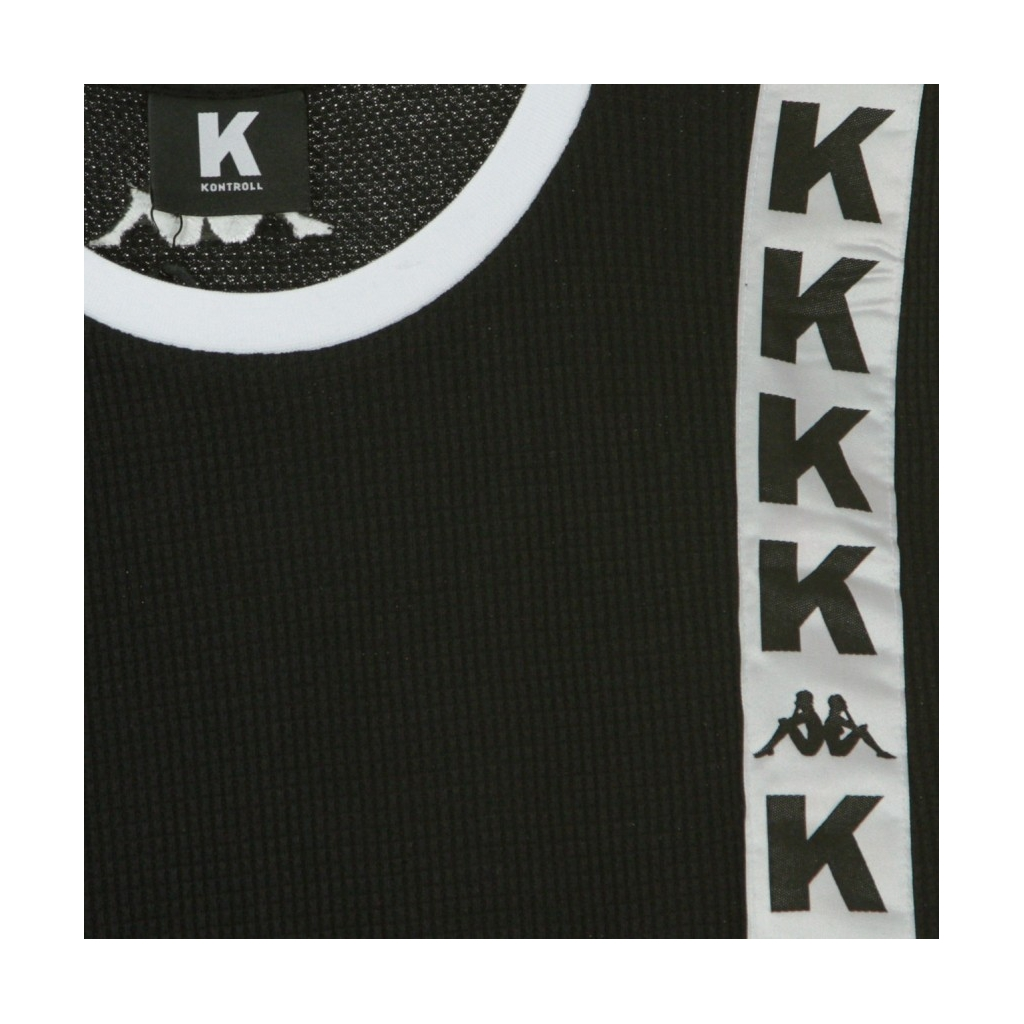 VESTITO LONG TANK BLACK/WHITE