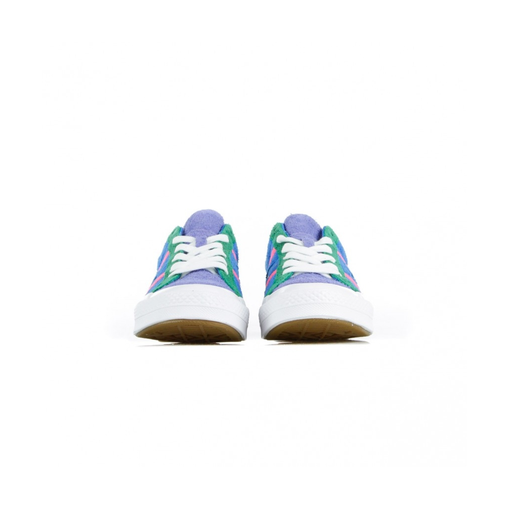SCARPA BASSA CHUCK TAYLOR ONE STAR ACADEMY OX TOTALLY BLUE/RACER PINK/WHITE