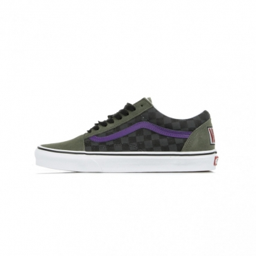 SCARPA BASSA OLD SKOOL CHECKER/MULTI/DEEP LICHEN GREEN