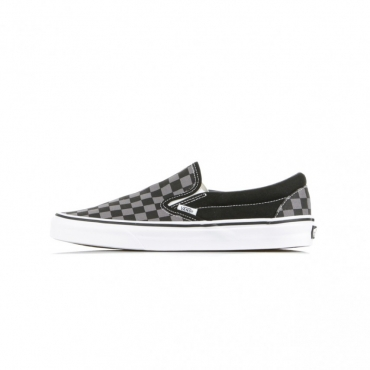 SCARPA BASSA CLASSIC SLIP-ON BLACK/PEWTER/CHECKERBOARD