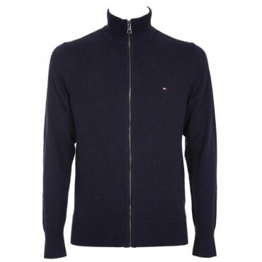 Pullover in cashmere e cotone con zip DU5SKYCAPTAI