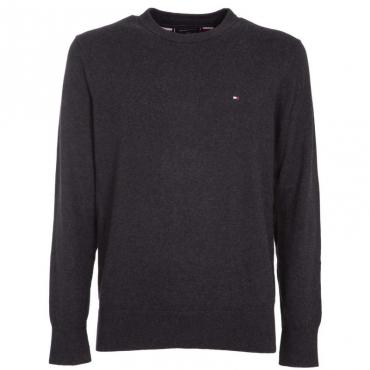 Pullover in cotone e cashmere con logo BD1JETBLACKH