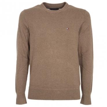 Pullover in cotone e cashmere con logo HHOWALNUTHEA