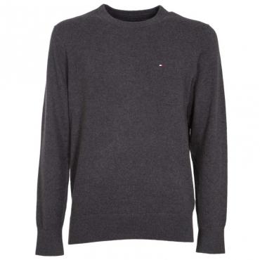 Pullover in cotone e cashmere con logo P9XCHARCOALH