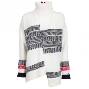 Pullover oversize asimmetrico YAPSNOWWHITE