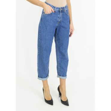Jeans mom fit lavaggio medio