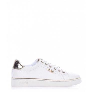 Sneaker con rilievo logo bianco