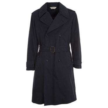 Trench blu navy in cotone pesante 85098ST
