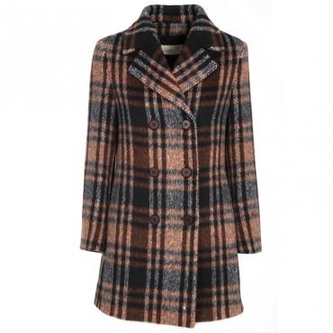 DISTRETTO12 Cappotto doppiopetto in lana vergine MOKA Giacche e