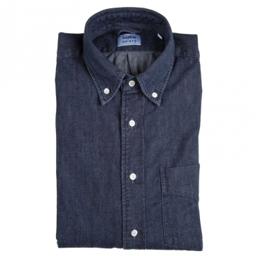 Camicia in jeans tinto indaco 01998