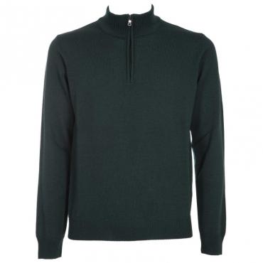 Pullover con mezza zip in lana merino 23