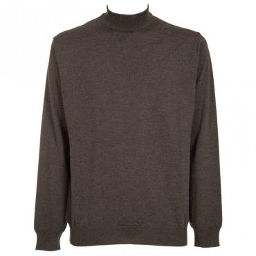 Pullover a collo alto in lana merino 35ANTRACITE
