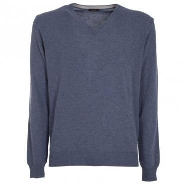 Maglione con scollo a V in lana merino 09