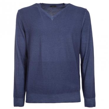 Pullover in lana merino con scollo a V 09