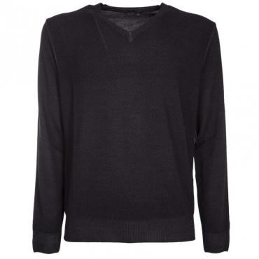 Pullover in lana merino con scollo a V 350