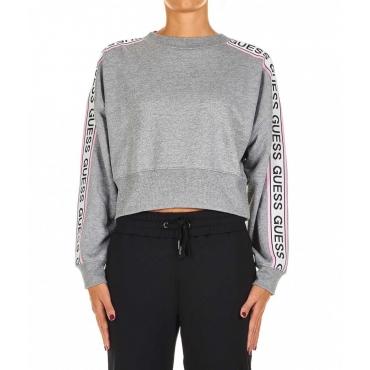 Cropped sweatshirt grigio chiaro