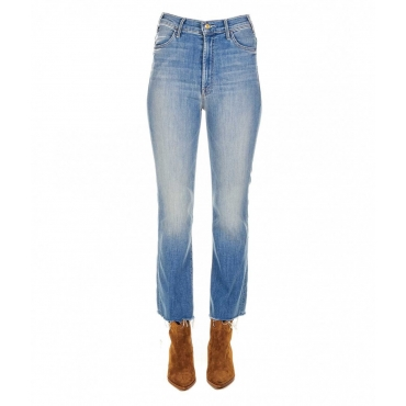 The Hustler Ankle Fray Jeans azzurro