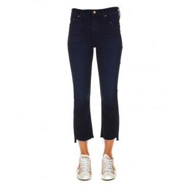 The Insider Crop Step Fray Jean Indigo