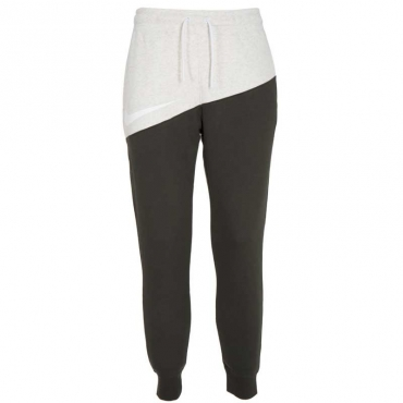Pantalone felpato bicolore con logo OATMEAL HEATHER