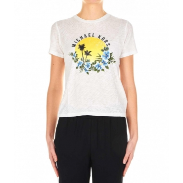 T-shirt con stampa frontale bianco
